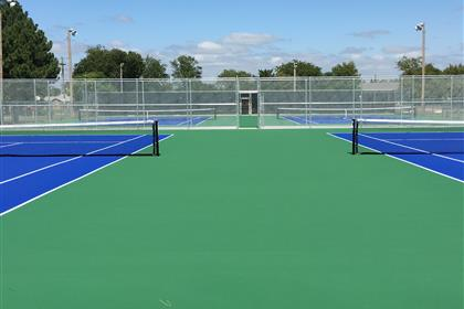 Completed Tennis Courts